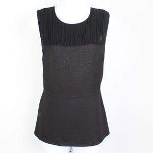 CAbi black sleeveless bustier top reptile print